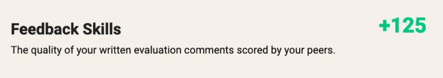Feedback Skills Score
